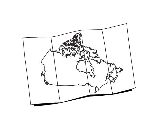 Illustrated Map of Canada